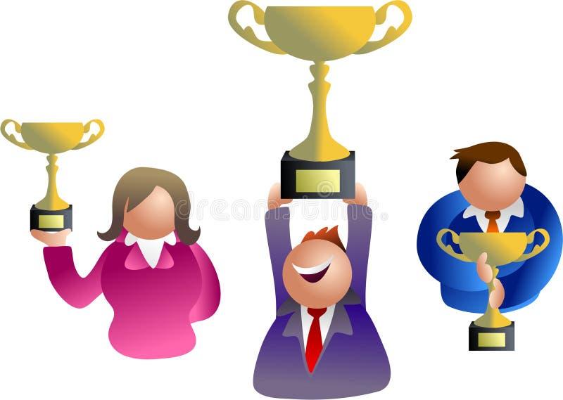 Vencedores do troféu ilustração do vetor