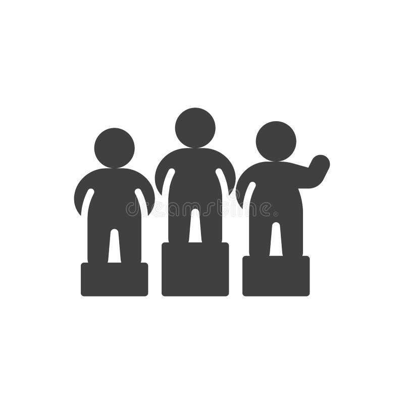 Vencedores no ícone do vetor do pódio ilustração royalty free
