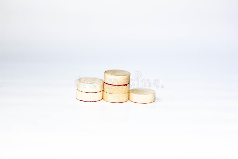 Vencedores podium criados com pequenos círculos de madeira foto de stock royalty free