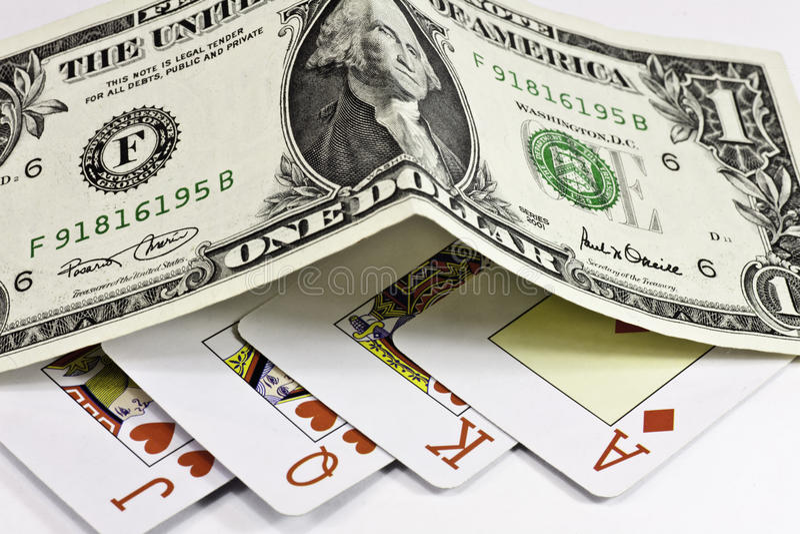 Vencimento no póquer fotos de stock royalty free