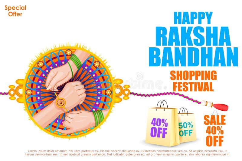Venda bandhan da compra de Raksha ilustração royalty free