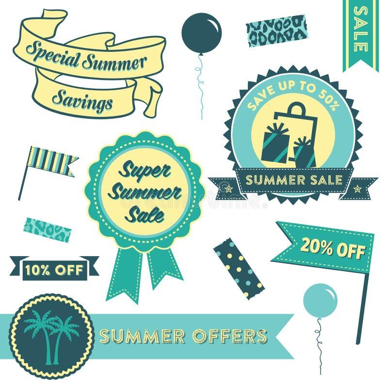 Venda Clipart do verão ilustração stock
