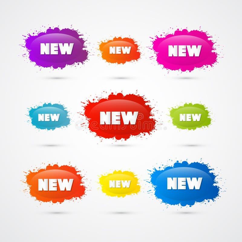 A venda colorida do vetor borra ícones ilustração do vetor