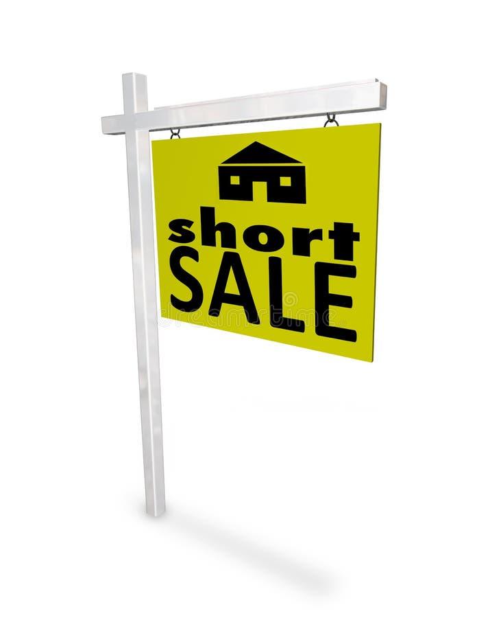 Venda curta - sinal Home ilustração stock
