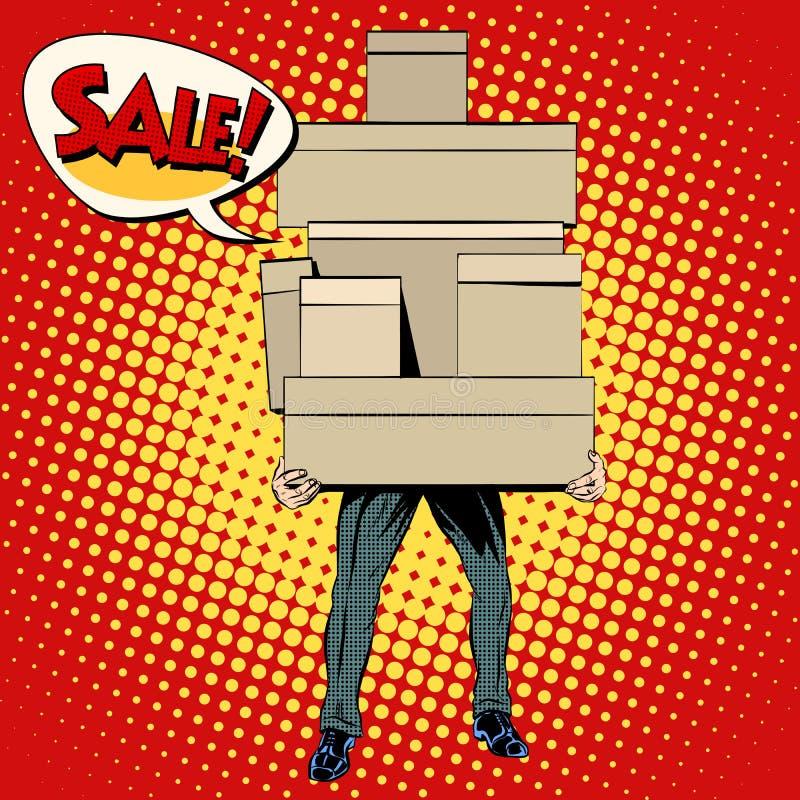 Venda da compra do comprador ilustração do vetor