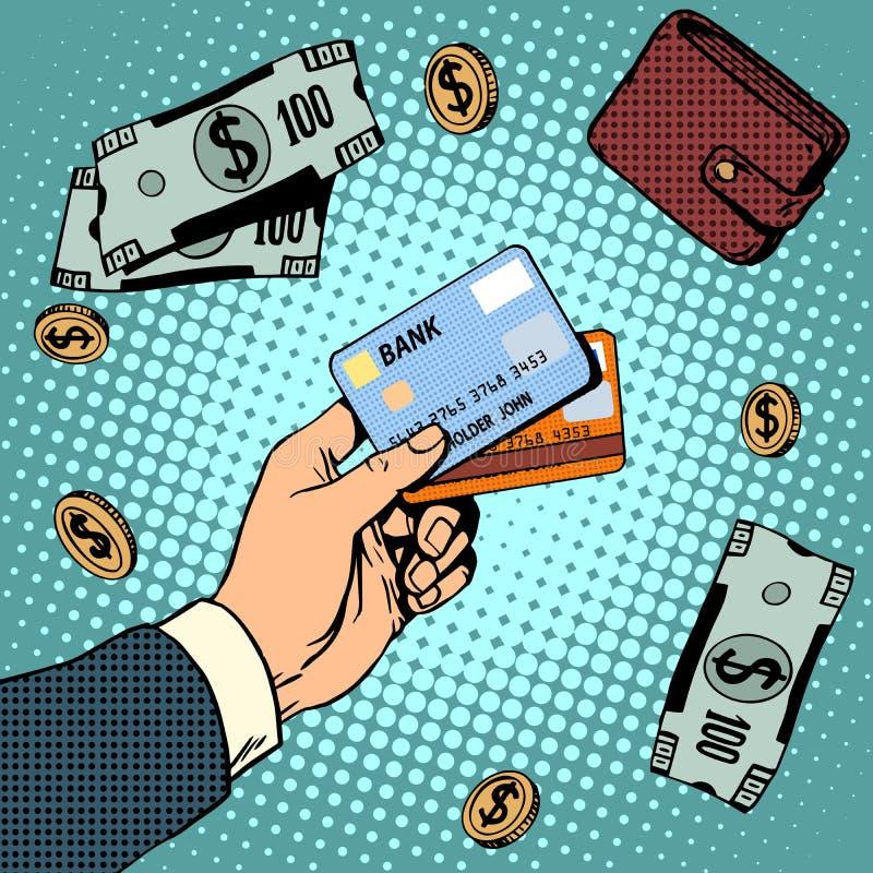 Venda da finança do dinheiro dos discontos do negócio do cartão de banco ilustração royalty free