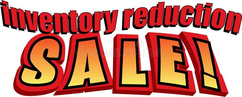 Venda da redução do inventário! ilustração royalty free
