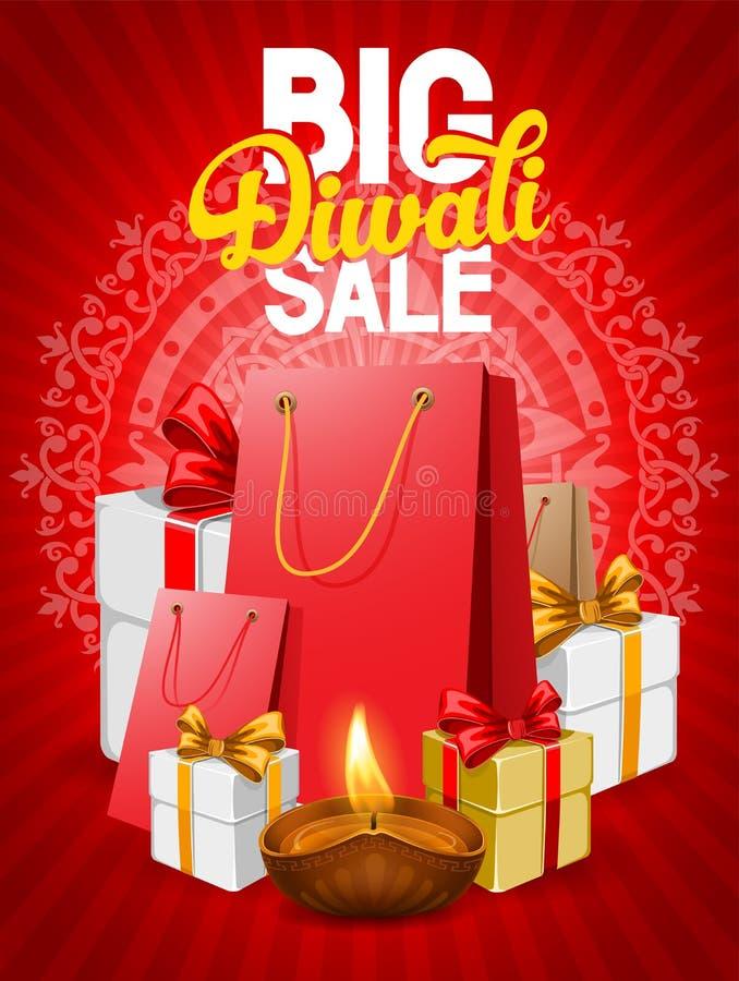 Venda de Diwali ilustração stock
