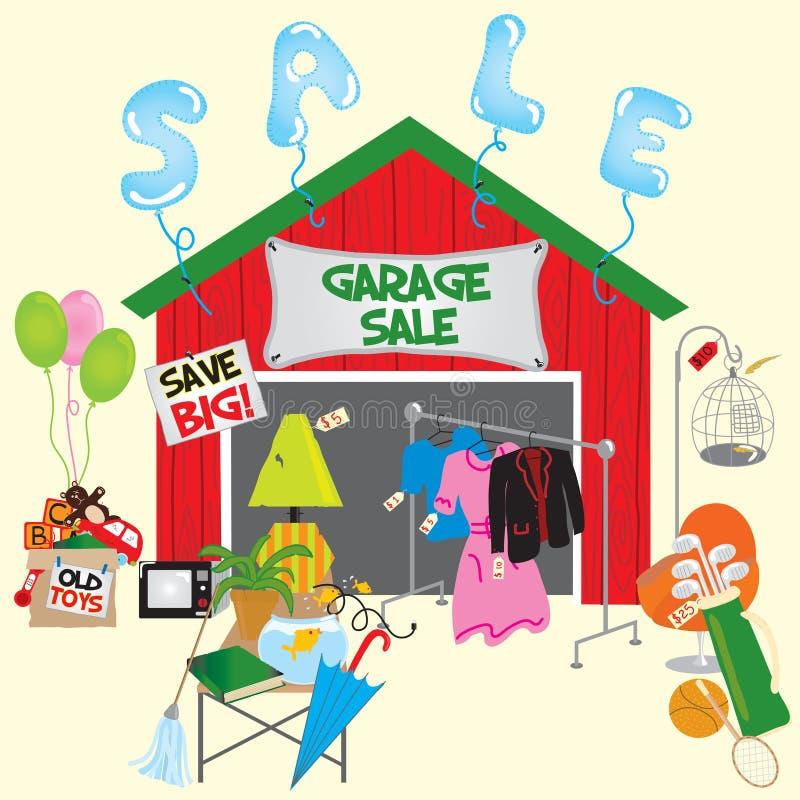 Venda de garagem! ilustração do vetor