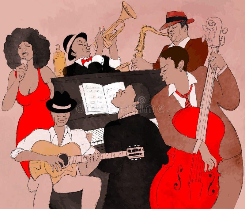 Venda de jazz stock de ilustración