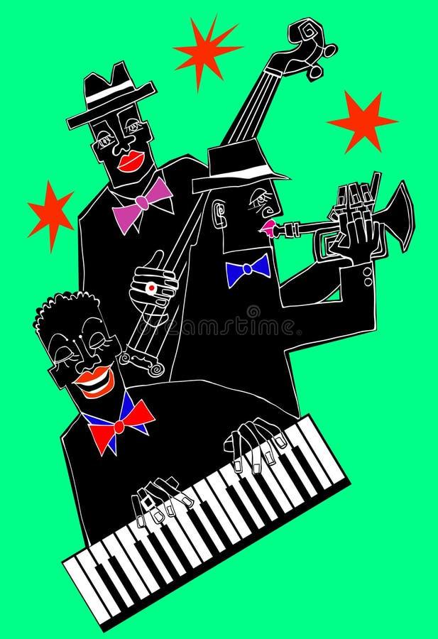 Venda de jazz en un fondo colorido libre illustration