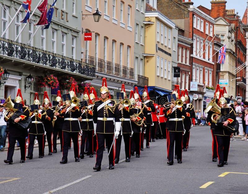 Venda de los azules y del Royals en Windsor real imagen de archivo libre de regalías