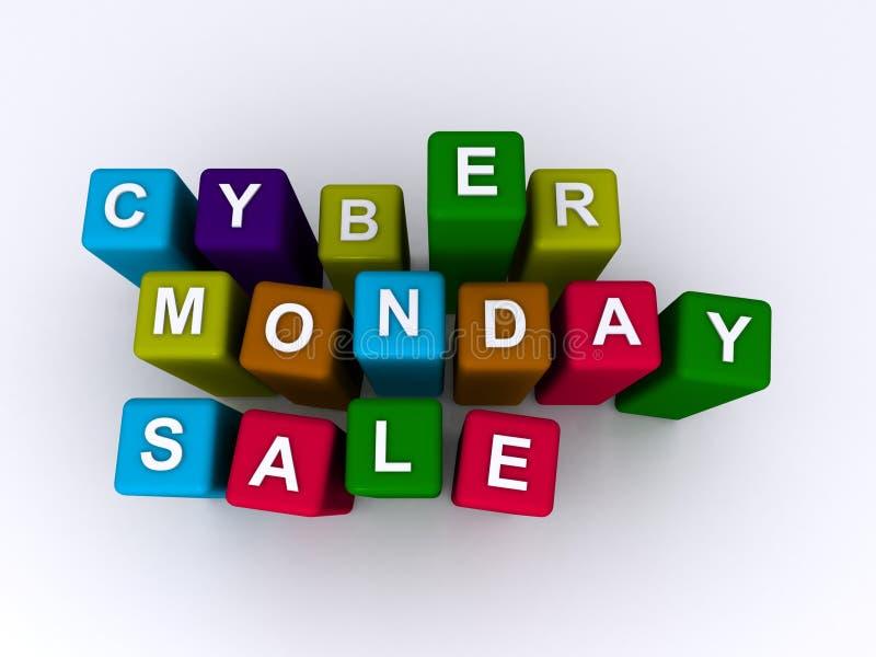 Venda de segunda-feira do Cyber ilustração royalty free