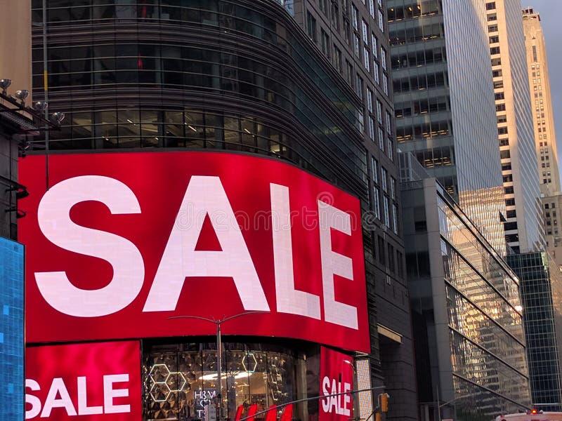 Venda de Time Square foto de stock royalty free