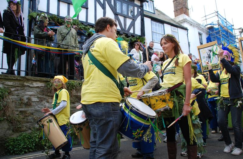 Venda del tambor, Hastings imagenes de archivo