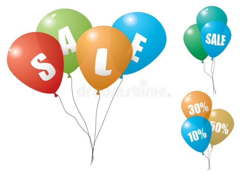 Venda do balão ilustração stock