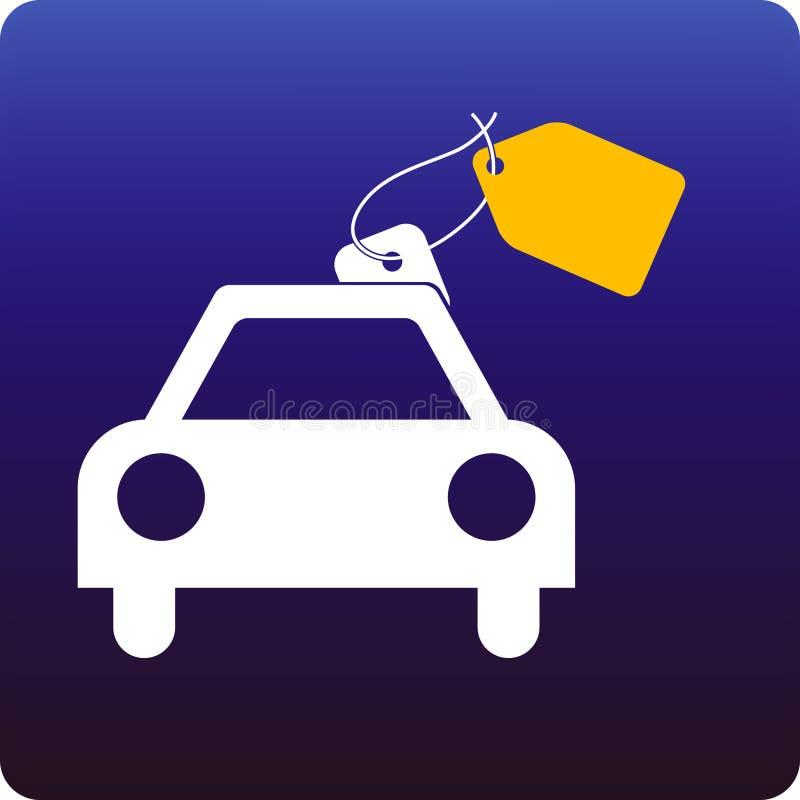 Venda do carro ilustração stock
