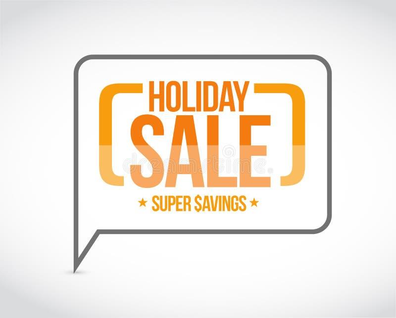 venda do feriado, sinal super da mensagem das economias ilustração do vetor