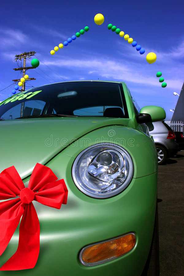 Venda do Natal do carro foto de stock