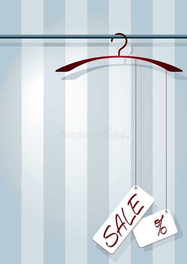 venda do Revestimento-gancho ilustração royalty free
