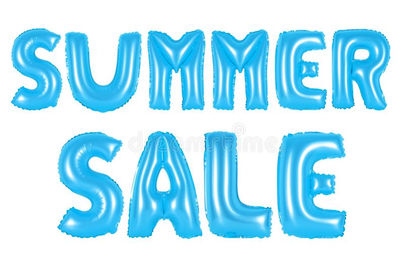 Venda do verão, cor azul ilustração royalty free