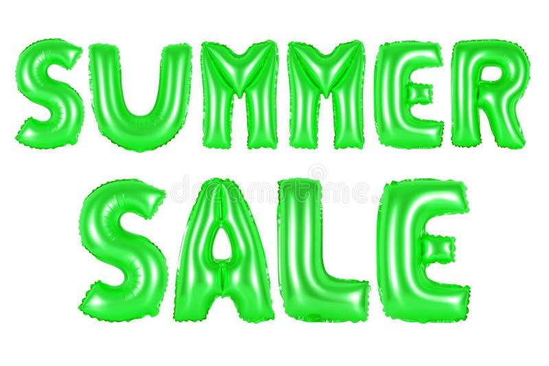 Venda do verão, cor verde ilustração stock