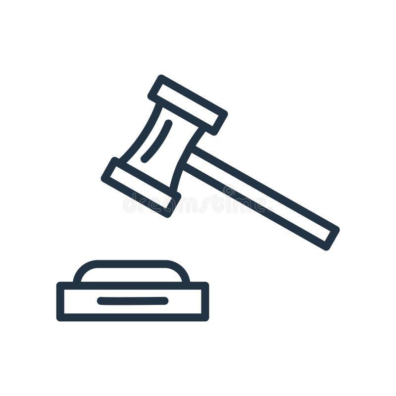 Venda em hasta o vetor do ícone isolado no fundo branco, sinal do leilão ilustração do vetor