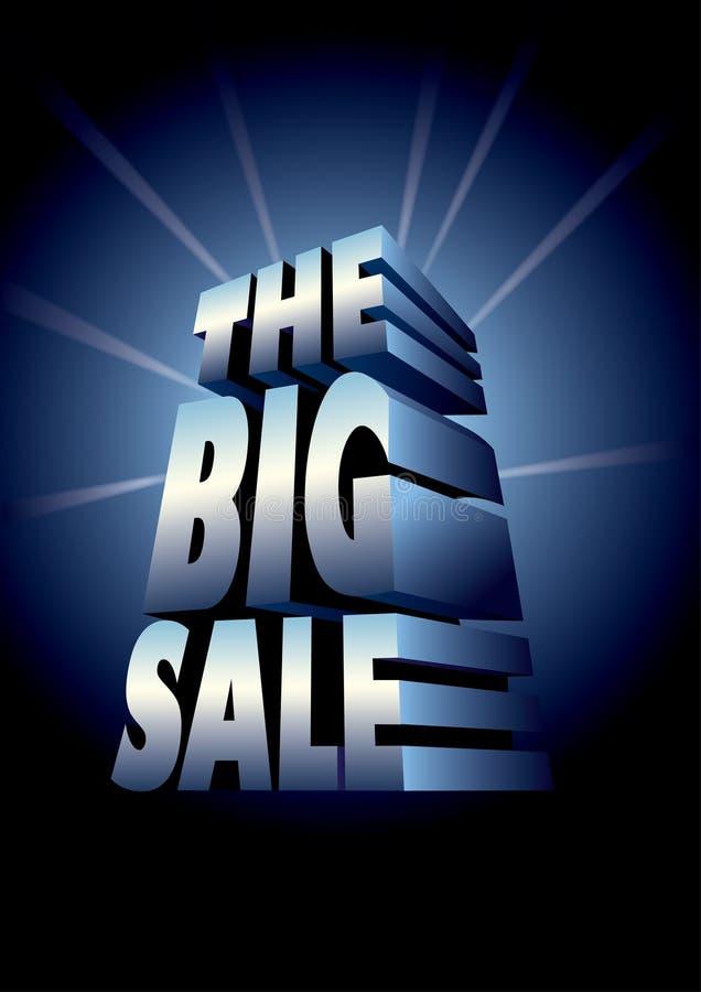A venda grande ilustração stock