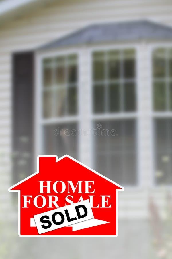 Venda Home 3 dos bens imobiliários imagens de stock royalty free