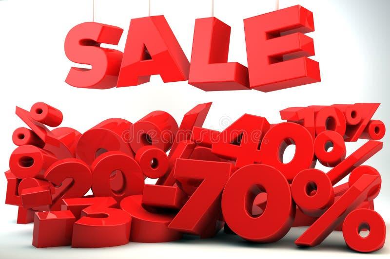 Venda - redução de preço ilustração stock