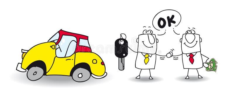 Venda seu carro ilustração royalty free