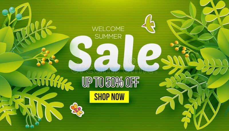 Venda verde do verão ilustração royalty free