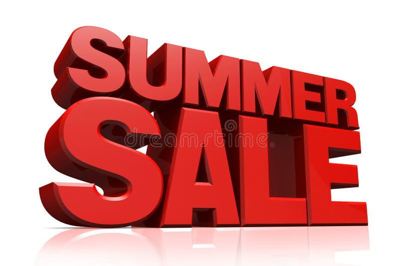 venda vermelha do verão do texto 3D ilustração royalty free