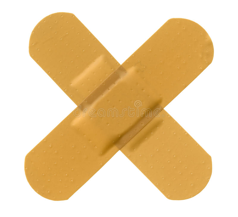 Vendaje adhesivo cruzado imagen de archivo