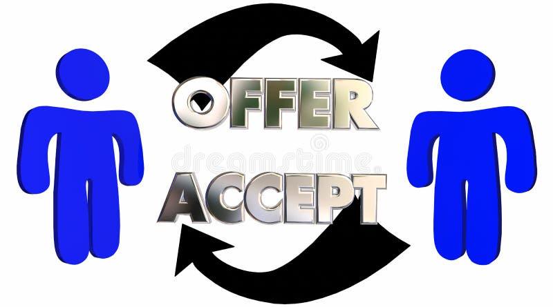 Vendas aceitadas oferta Person Deal do cliente dos povos ilustração do vetor