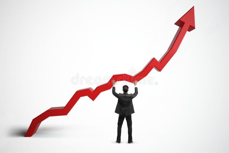 Vendas, crescimento, renda e conceito da finança imagem de stock