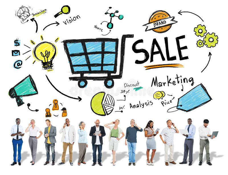 Vendas da venda que vendem o conceito do pagamento da renda de dinheiro do rendimento da finança imagem de stock