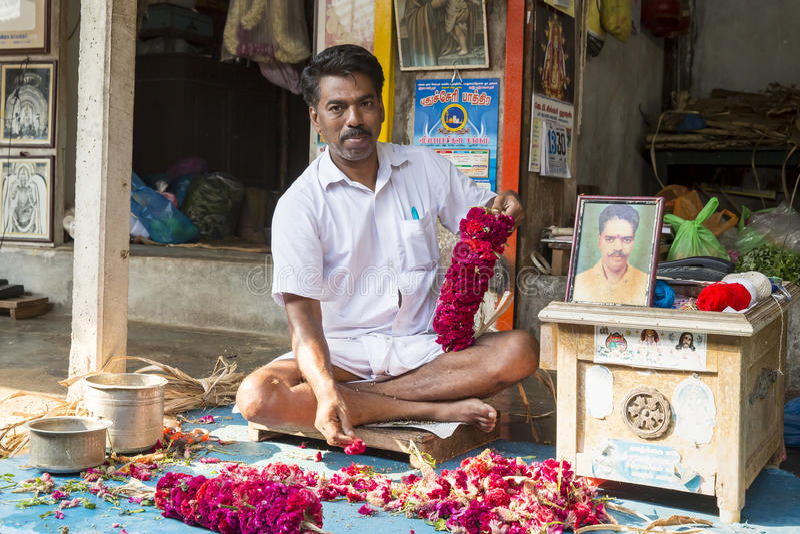 Vendas das frutas e legumes no mercado indiano imagens de stock royalty free