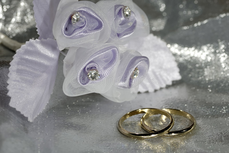 Vendas de boda imagen de archivo