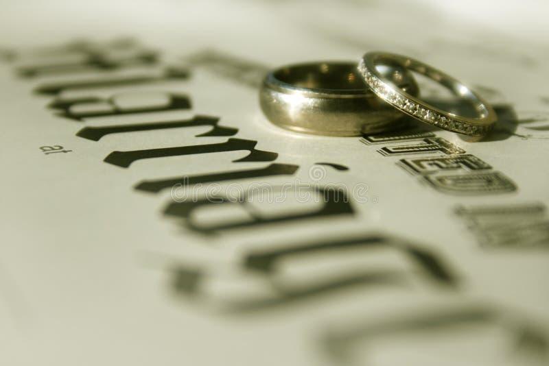 Vendas de boda fotografía de archivo libre de regalías