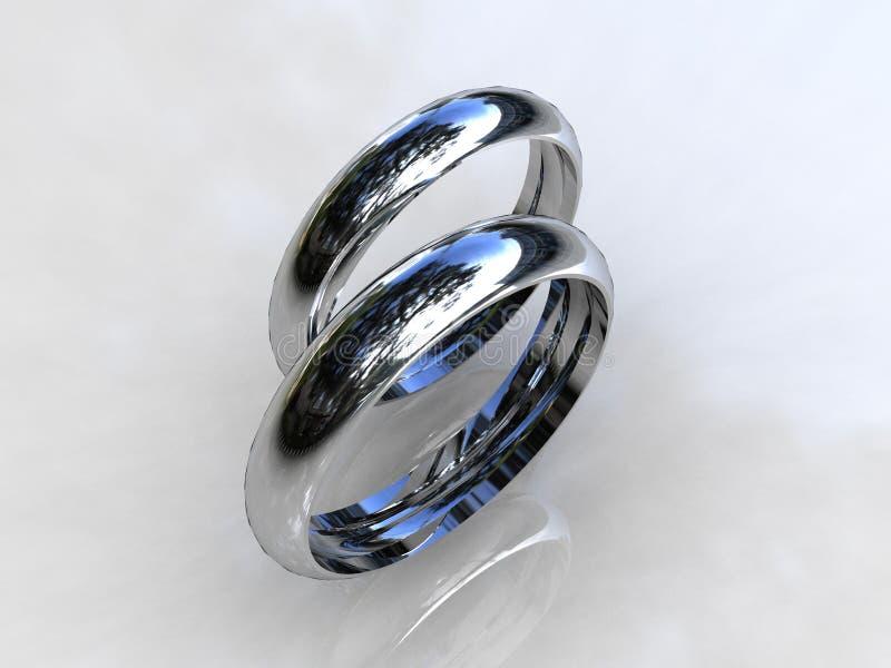 Vendas de boda clásicas del platino libre illustration