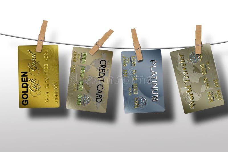 Vendas do mercado no crédito ilustração royalty free