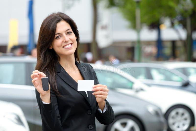 Vendas e arrendamento do carro fotos de stock royalty free