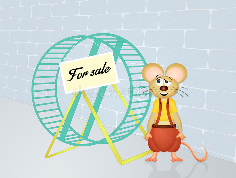 Vende a roda do hamster ilustração do vetor