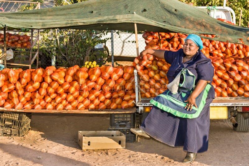 Vendedor ambulante africano fotografia de stock
