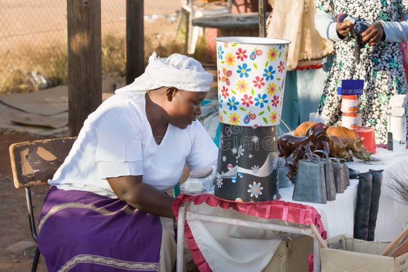 Vendedor ambulante africano em botswana imagem de stock royalty free