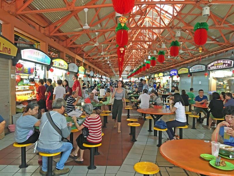 Vendedor ambulante Centre, Singapura imagem de stock
