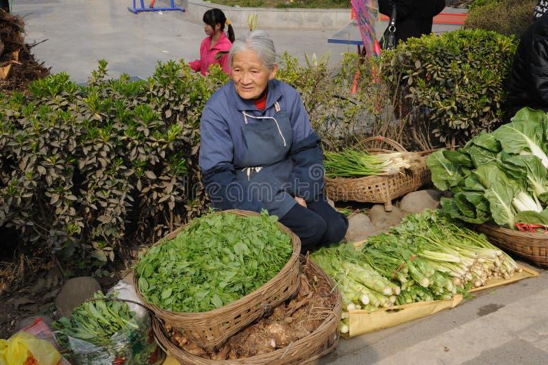 Vendedor ambulante chinês imagem de stock royalty free