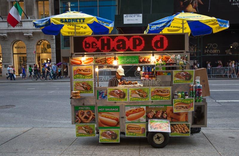 Vendedor ambulante de New York fotos de stock royalty free