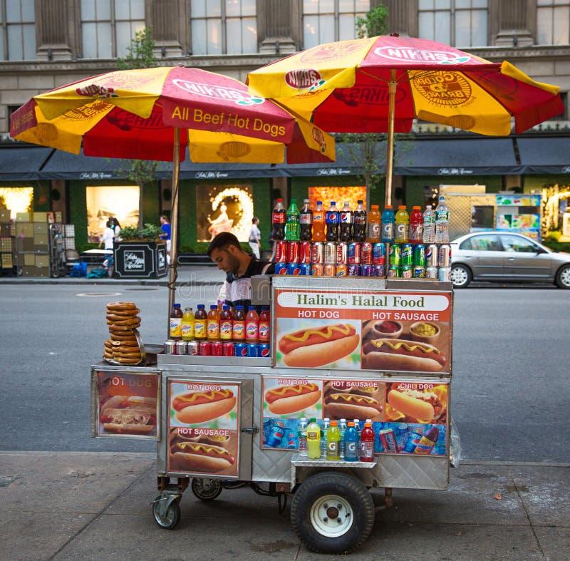 Vendedor ambulante de New York fotografia de stock royalty free